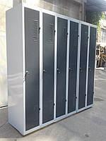 Шкаф для одежды сменной б у, металлический шкаф бу, шкаф б/у, фото 1