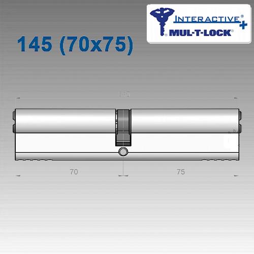 Цилиндр Mul-T-Lock Interactivе+ 145 мм (70х75)