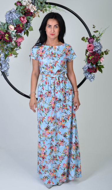 f77aaaf1ccc3 Длинное платье свободного силуэта - Оптово - розничный магазин одежды