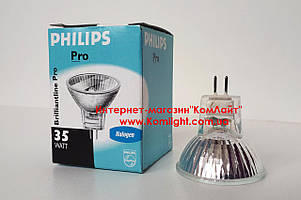 Лампа галогенная PHILIPS Brilliant 35W 12V 35mm 30D MR11 GU4 (Польша)