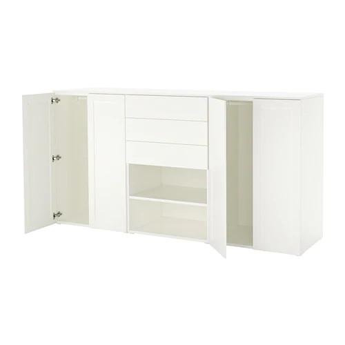 Шкаф IKEA PLATSA 240x57x123 см Fonnes Sannidal белый 892.521.17