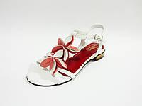 Женские кожаные сандали босоножки на каблуке Kordel 4931