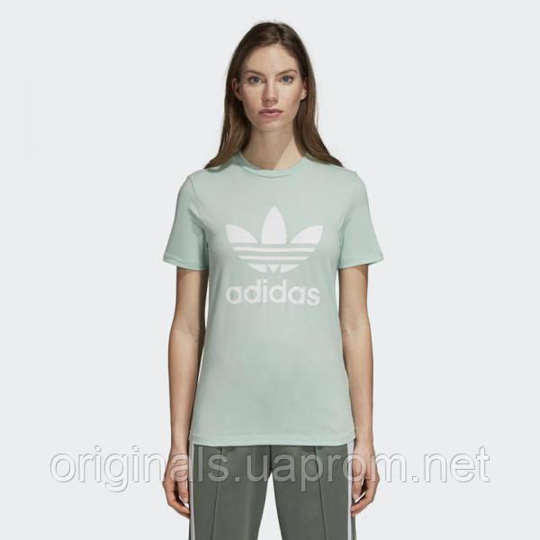 219361f3 Женская футболка Adidas Originals Trefoil Logo W DH3176 - 2018 -  интернет-магазин Originals -