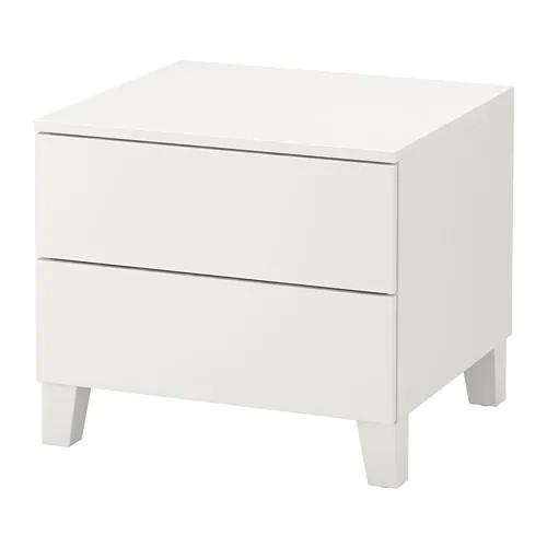 Комод с 2 ящиками IKEA PLATSA 60x55x53 см Fonnes белый 092.772.11