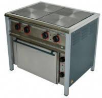 Плита профессиональная электрическая, эконом 14,3 кВт, 4-конфорочная с духовкой, ПЕ-4Ш АРМ-ЭКО