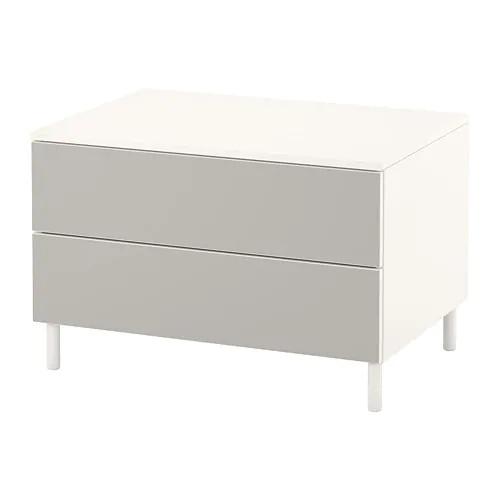 Комод с 2 ящиками IKEA PLATSA 80x55x53 см Skatval светло-серый белый 492.772.28