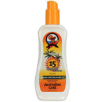 Спрей-гель для загара на солнце AUSTRALIAN GOLD SPF SPF 15 Spray Gel, 237 ml