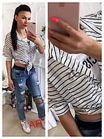 Женская легкая воздушная рубашка-футболка (расцветки), фото 1