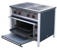 Плита профессиональная электрическая, энергоэффективная, 14,3 кВт, 4-конфорочная с духовкой, ПЕ-4Ш Ч АРМ-ЭКО