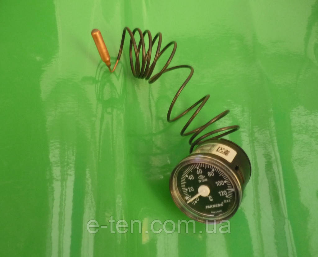Термометр капиллярный PAKKENS Ø40мм / Tmax=120°С /  длина капилляра L=1м      Турция