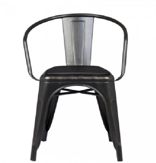 Кресло «Барселона» черное с золотыми разводами
