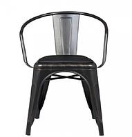 Кресло «Барселона» черное с золотыми разводами, фото 1