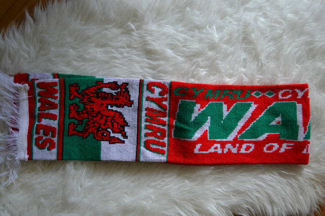 Футбольный шарф Wales Уэльс Cymru, фото 2