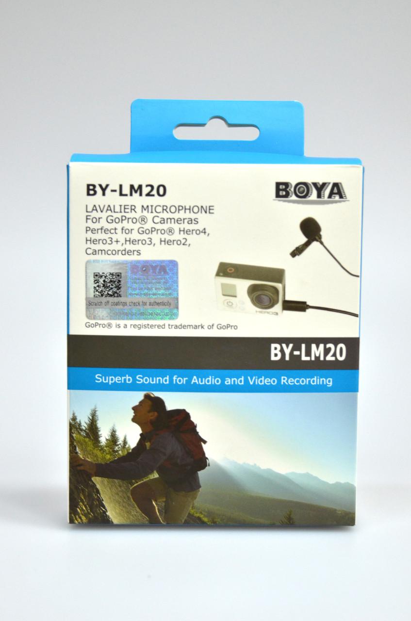 Микрофон петличный Boya BY-LM20