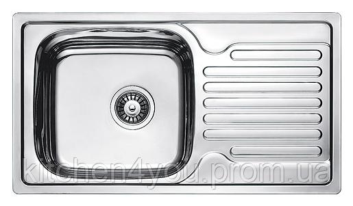 Прямокутна кухонна мийка Fabiano 78х43 нержавіюча сталь, сатин