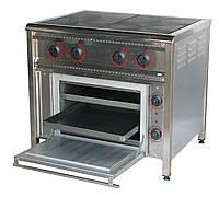 Плита профессиональная электрическая 15,8 кВт, 4-конфорочная с духовкой, ПЕ-4Ш Н (элит)