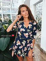 Женский летний комбезик в цветочек (2 цвета), фото 1