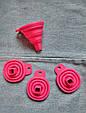 Лейка воронка силиконовая для кухни розовая, фото 3