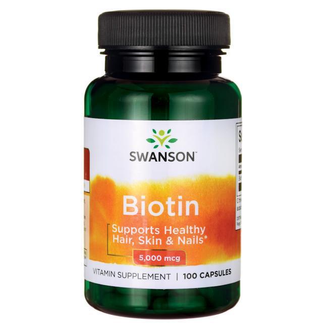 Биотин - Витамин В7, 5000 мкг. 100 капсул