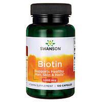 Биотин - Витамин В7, 5000 мкг. 100 капсул, фото 1