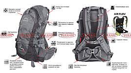 Легкий туристический рюкзак на 45л с каркасом Leadhake Memory
