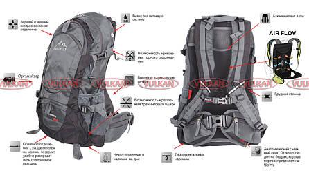 Легкий туристический рюкзак на 45л с каркасом Leadhake Memory, фото 2