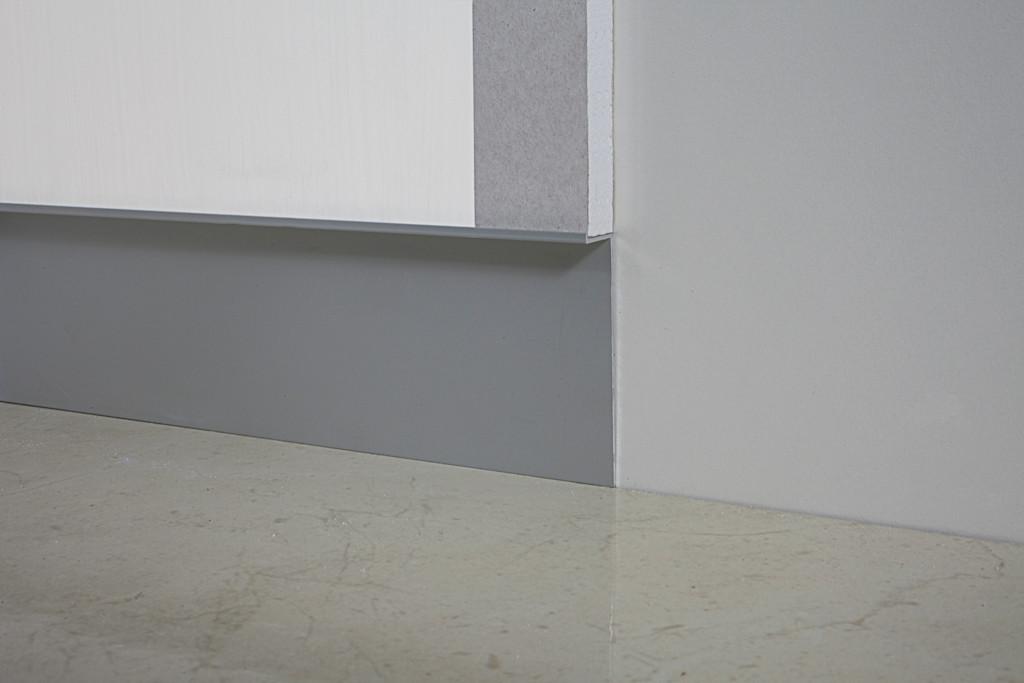 Плинтус алюминиевый скрытого монтажа под гипсокартон 80х3000 мм без покрытия
