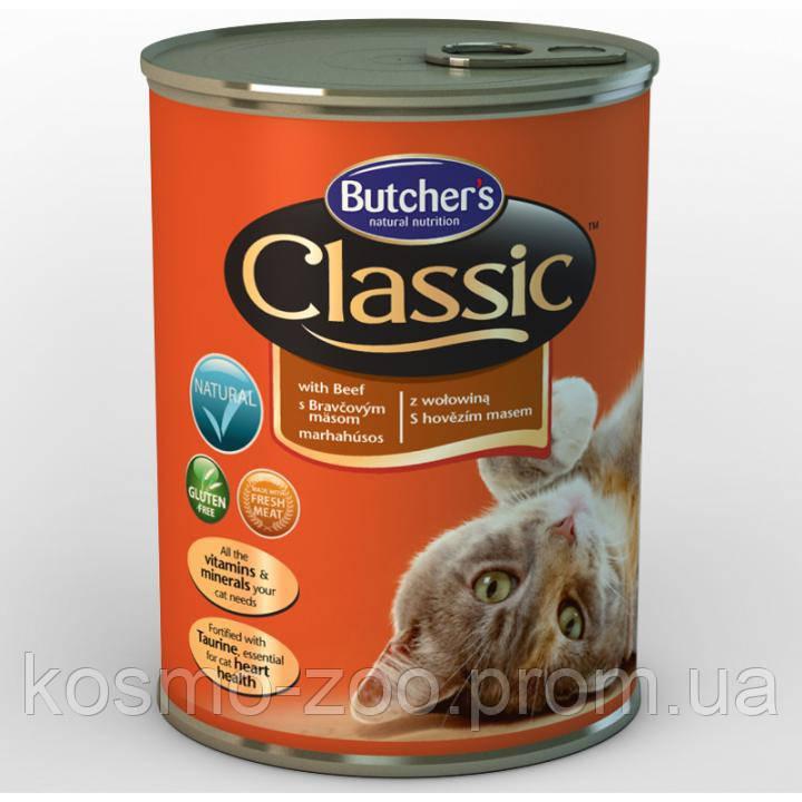 Консервы для котов Butcher`s (Бутчерс) Basic с мясом говядины, 400 гр