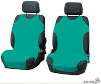 Майки чехлы для автомобиля универсальные Kegel на переднее сиденье зеленые, фото 1