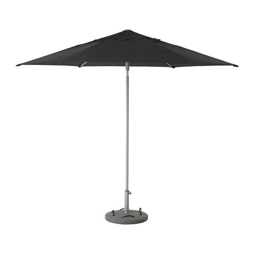 Зонт от солнца с опорой IKEA KUGGÖ / LINDÖJA 300 см Lökö серый черный 692.676.19