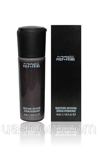 Увлажняющая сыворотка-база для лица MAC Prep+ Prime Moisture Infusion Serum Hydratant 50 ml., фото 2