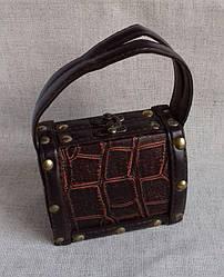 Декоративная шкатулка в виде сумочки