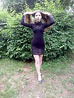Нарядное женское платье по фигуре прилегающий силуэт р 42, 44 с кружевом стильное елегантное
