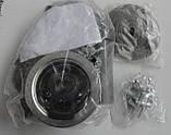 Прямокутна полуторне кухонна мийка Fabiano 88х50х1,5 нержавіюча сталь, микродекор, фото 4