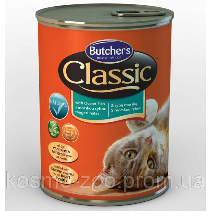 Консервы для котов Butcher`s (Бутчерс) Basic с морской рыбой, 400 гр