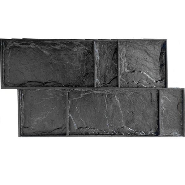 """Полиуретановая форма-штамп """"Цокольный камень"""" 780*410*22 мм для печати и литья плитки"""