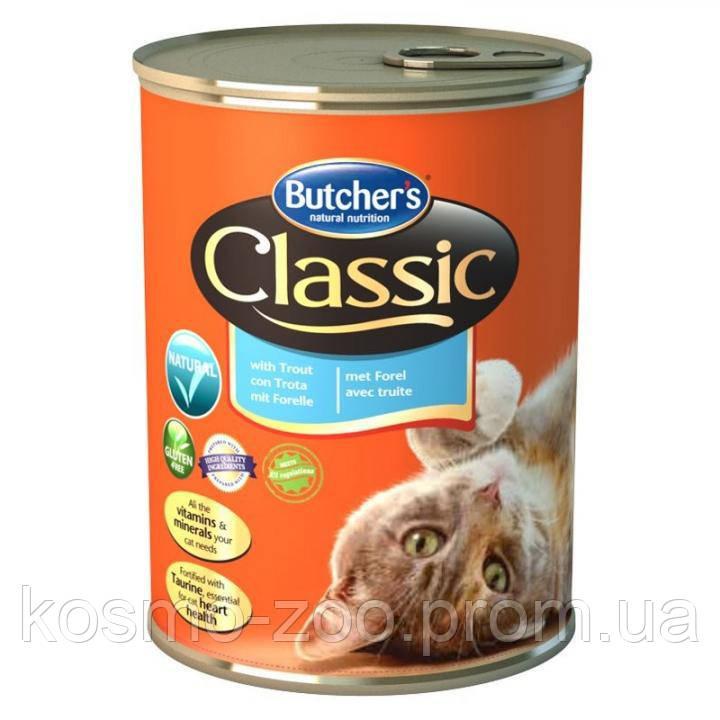 Консервы для котов Butcher`s (Бутчерс) Basic с форелью, 400 гр