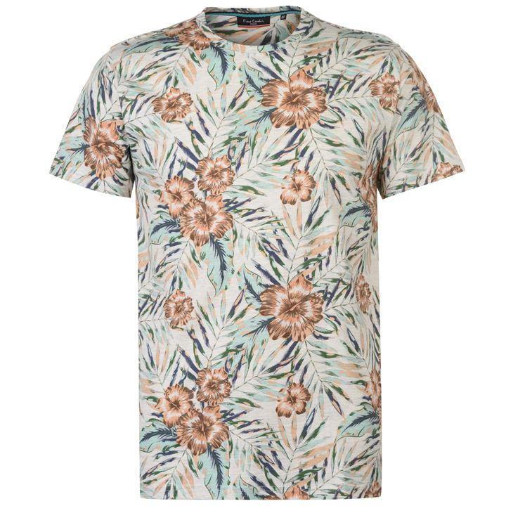 Молодежная стильная футболка Pierre Cardin Fade Tropical  размер 46 M