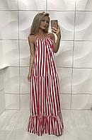 Платье 363 волна в пол