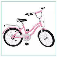 Двухколесный велосипед 20 дюймов PROF1 L 2092 малиновый