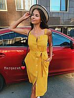 Женское силуэтное платье миди (4 цвета), фото 1