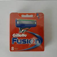 Кассеты для бритья Gillette Fusion 8 шт. ( Картриджи, лезвия Жиллет фьюжин оригинал ) , фото 1