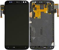 Дисплей (экран) для Motorola XT1570 Moto X Style/XT1572/XT1575 + тачскрин, черный, с передней панелью