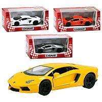 Машинка металева KINSMART KT 5355 W  Lamborghini Aventador LP 700-4, в коробці