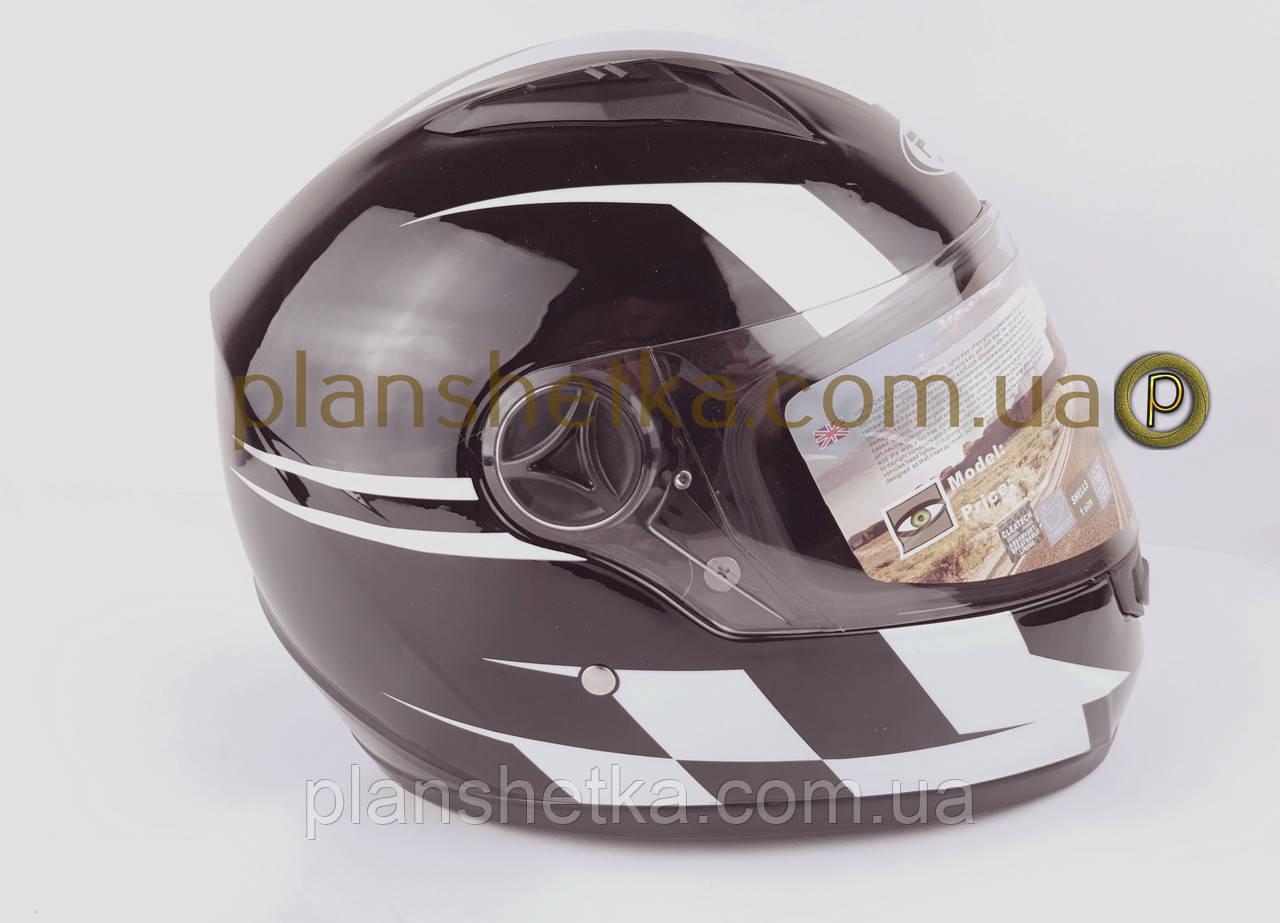 Шлем для мотоцикла Hel-Met 111 черный с полосой Nomad