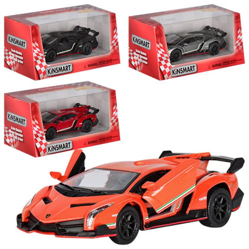 Машинка металева KINSMART KT 5367 W Lamborghini veneno, в коробці