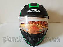 Шлем для мотоцикла Hel-Met 111 черный мат с зеленым, фото 2