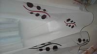 Тюль полуорганза с рисунком