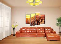 Кожаный диван (элитный угловой диван)