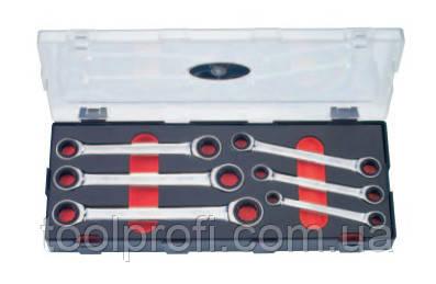 Набор ключей накидных трещоточных 6 пр. (8-19 мм)